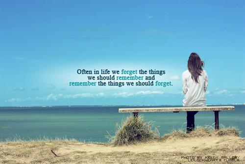 Often in life -----