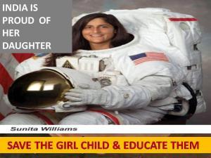 Sunita-India's proud daughter