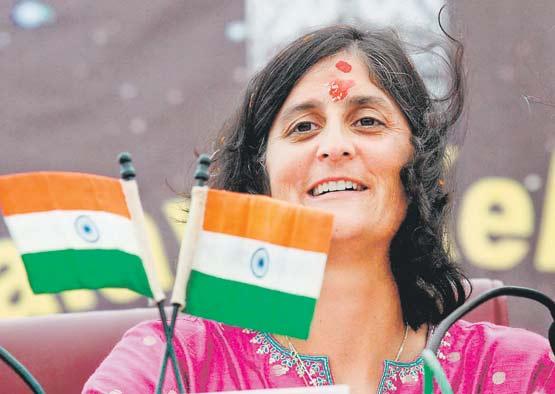Sunita during her 2007 visit to India-Photo courtesy Chhaya Pandya and NASA