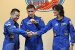 Sunita Williams with her two fellow astronaughts -Photo Courtesy Google