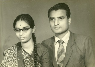 Kusumben -Vinodbhai -Picture on marraige Day-August 14, 1962
