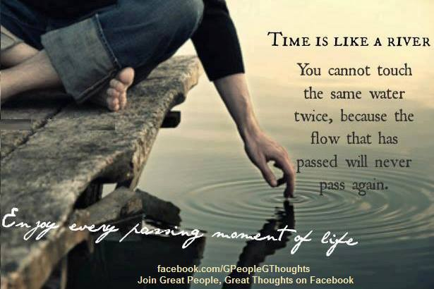 Time passes away..