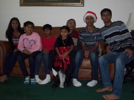 Grandpa with grand kids -3