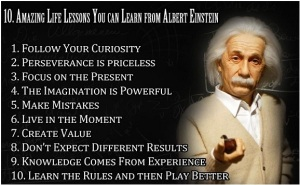 10 Life Lessons-Einstain