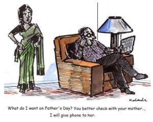 Mr. Mahendra Shah's Fathers' Day Cartoon