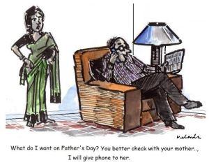 Mr. Mahendra Shah's Fathers' Day Cartoon