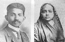 Mohandas K.Gandhi and Kasturba Gandhi  - Photo of 1902 in South Africa .
