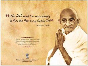 Gandhi- Rich and Poor -Quote