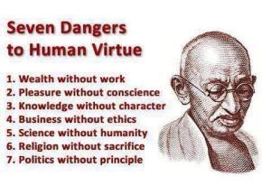 Seven sins - Gandhi