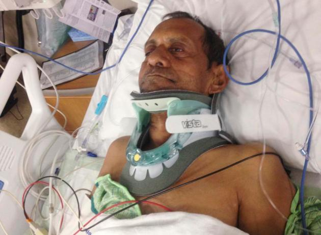 Sureshbhai Patel is seen at Huntsville Hospital, in Huntsville, Alabama