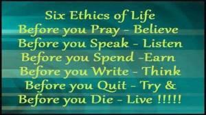 6 ETHICS OF LIFE-