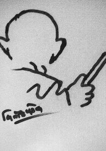 Gandhi Sketch- Vinod Patel