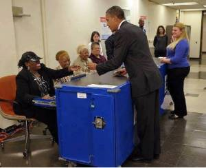 obama showind  ID - FOR VOTING