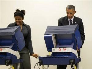 OBAMA VOTING