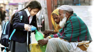 Humanity & caring at such a tender age...
