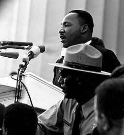 "King is most famous for his ""I Have a Dream"" speech, given in front of the Lincoln Memorial during the 1963 March on Washington for Jobs and Freedom."