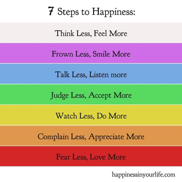 7 steps of happiness