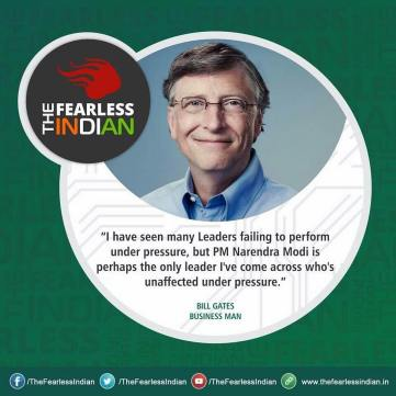 Bill Gates about Modi