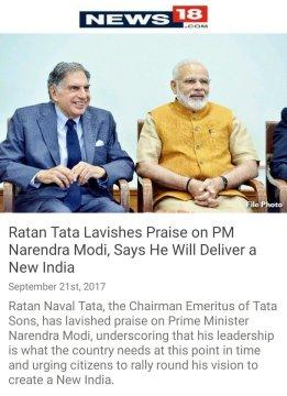 Ratan Tata on Modi